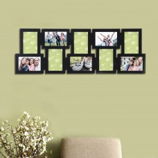 AdecoTrading 10 Opening Decorative Interlocking Wall Hanging Collage Picture Frame ADEC1757