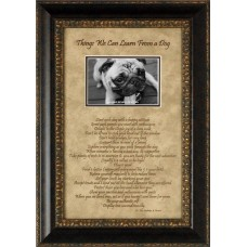 Artistic Reflections Things We Can Learn from a Dog Picture Frame AETI2033