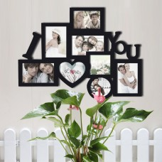 Zipcode Design 8 Opening Wooden Photo Collage Wall Hanging Picture Frame ZIPC6116