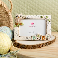 FashionCraft Gifts Baby Owl Picture Frame FCRA1045