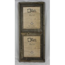 RusticDecor Barn Wood Vertical 2 Opening Collage Picture Frame RDCR1019