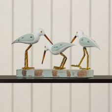 Beachcrest Home Wood/Metal 3 Birds on Stand Figurine SEHO3068