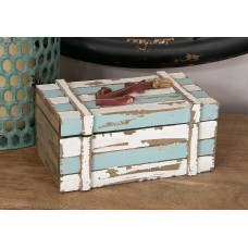 Breakwater Bay Benites 2 Piece Wood Box Nautical Maritime Decor Set BKWT7304