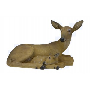 "Fantastic Craft 13.5"" Sitting Doe Figurine FNTC1178"