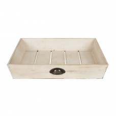 Gracie Oaks Mcclary Distressed Wood Square Accent Tray GRCS5680
