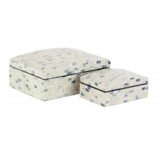 Rosecliff Heights Yorkshire Natural Rectangular 2 Piece Decorative Box Set with Domed Lid ROHE6679