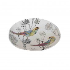 August Grove Pfannenstiel Dolomite Decorative Plate with Bird AGGR7615