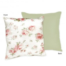 Sweet Jojo Designs Riley's Roses Cotton Throw Pillow JJD3452