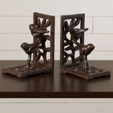 August Grove Cast Iron with Bird Bookends AGRV4766