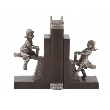 Cole Grey Polystone Boy and Girl Book Ends COGR1902