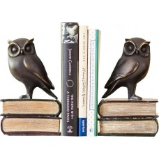 Loon Peak Owl on Book Bookends Set LOPK1859