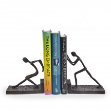 Mercury Row Men Pushing Metal Book End MCRW4911