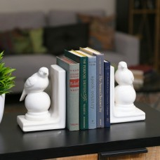 Urban Trends Ceramic Perching Bird on a Ball Pedestal Bookend URT8587