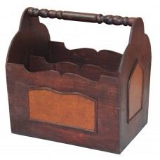 Alcott Hill Barnard Handcrafted Decorative Wooden Magazine Rack ALTH3587