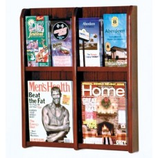 Wooden Mallet 4 Magazine / 8 Brochure Wall Display WML1072