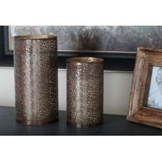 Bloomsbury Market Contemporary 3 Piece Metal Hurricane Set BBMT3778