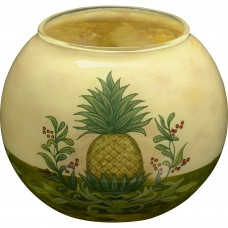 Precious Moments Welcome Pineapple Hand Painted Glass Votive and Tea Light FH2466