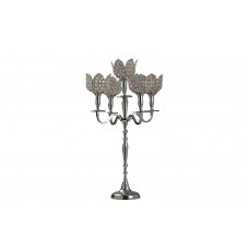 House of Hampton Glass 5 Tulip Crystal Candelabra GRNN1042