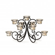 Mikasa Metal and Glass Candelabra MIKA1034