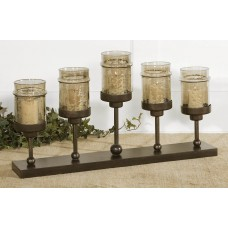 Uttermost Lamya Iron and Glass Transparent Candlestick UM10962