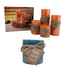 Entrada 4 Piece Scented Votive and Pillar Candle Set FBWT1098
