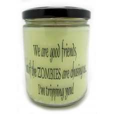 StarHollowCandleCo We are Good Friends, But If The Zombies are Chasing Us, Im Tripping You! Snickerdoodle Jar SHCC1502