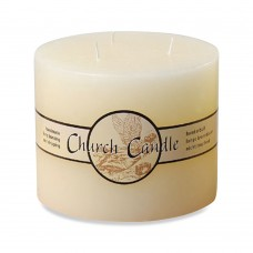 WholeHouseWorlds Angel Label Church Unscented Pillar Candle WHWO1054