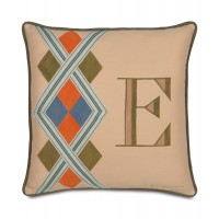 Eastern Accents Pinkerton Eli Monogram Throw Pillow EAN3865
