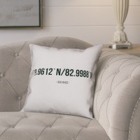 Gracie Oaks Bloomfield Simple Coordinates Throw Pillow GRCS2784