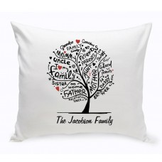 JDS Personalized Gifts Family Roots Throw Pillow JMSI2709