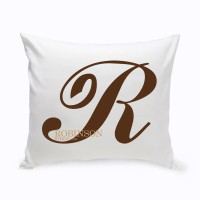 JDS Personalized Gifts Personalized Calligraphy Monogram Cotton Throw Pillow JMSI2684