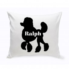 JDS Personalized Gifts Personalized Mini Poodle Silhouette Throw Pillow JMSI2467
