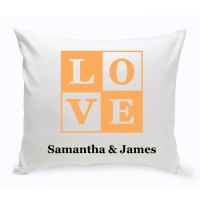 JDS Personalized Gifts Personalized Unity Love Cotton Throw Pillow JMSI2692