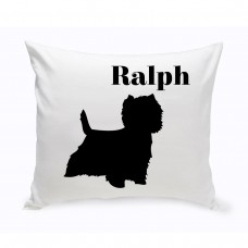 JDS Personalized Gifts Personalized West Highland Terrier Classic Silhouette Throw Pillow JMSI2508