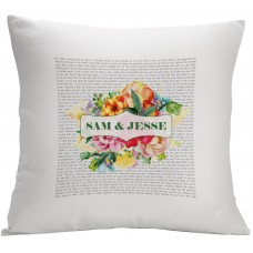 Monogramonline Inc. Personalized Couples Love Poem Decorative Cushion Cover MOOL1051