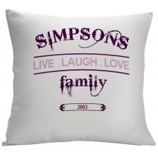 Monogramonline Inc. Personalized Live Laugh Love Family Decorative Cushion Cover MOOL1044
