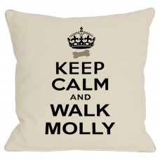 One Bella Casa Personalized Keep Calm and Walk Throw Pillow MONO1228