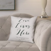Ophelia Co. Jaycee Love Lives Here Script Throw Pillow OPCO5660