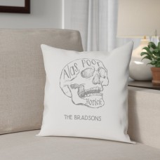 The Holiday Aisle Personalized Alas Poor Yorick Cotton Throw Pillow THLY2560