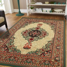 Bloomsbury Market Premo Oriental Green/Beige Indoor/Outdoor Area Rug DRXF1028