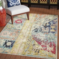 Bungalow Rose Piland Gold Area Rug BGLS6871