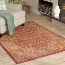 Charlton Home Coleraine Red Area Rug CHRL2509