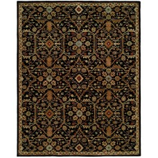 Meridian Rugmakers Chandran Tufted Black Area Rug MRDN2720