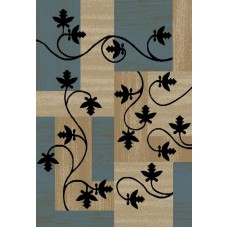 Winston Porter Hinson Leaf Boxes Blue/Light Brown Area Rug WNST2646