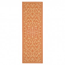 Alcott Hill Bexton Persian Terracotta/Natural Indoor/Outdoor Area Rug ALCT1002