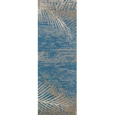Beachcrest Home Odilia Tropical Palms Blue/Gray/Beige Indoor/Outdoor Area Rug BCMH1023