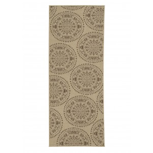 Ophelia Co. Genoa Damask Medallions Power Loom Beige Indoor/Outdoor Area Rug OPCO3347