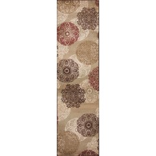 Three Posts Winterberry Beige/Brown/Red Area Rug THRE4078