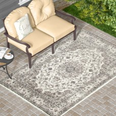 Alcott Hill Murphysboro Cream Indoor/Outdoor Area Rug ACOT4050
