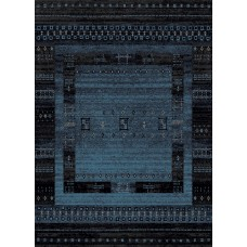 Bloomsbury Market Marana Anti-Bacterial Blue/Black Indoor/Outdoor Area Rug BBMT2653